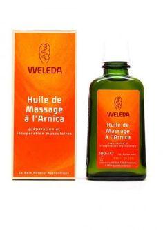 Huile de massage à l'arnica WELEDA http://www.ayanature.com/fr/huiles-de-massage-soin-bio/127-huile-de-massage-a-l-arnica-decontractante.html