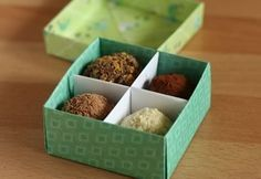 Make your own gift box with optional divider. Has picture/written instructions as well as a video tutorial. You could make in all different kinds of paper depending on the theme/holiday/occasion you are doing it for.: