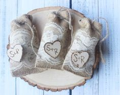 10 burlap bear baby shavor rustic favor bags with by PinKyJubb