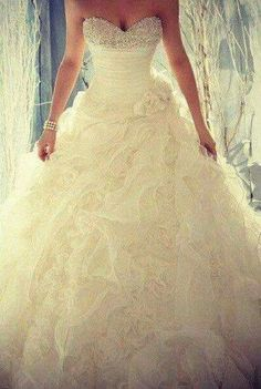Wedding dress...sparkle...princess gown