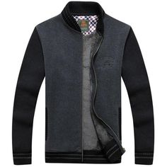 Casual Thick Warm Stand Collar Long Sleeve Coat For Men - Gchoic.com