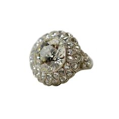Munnu The Gem Palace old-mine diamond ring with rose cut diamonds, price upon request For information: 212.861.0606