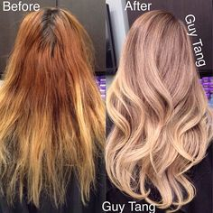 "11.5k Likes, 708 Comments - Guy Tang® (@guy_tang) on Instagram: ""Yet another intense color correction! Base formula #schwarzkopf 6-12 20vol lift with #blondme 30vol…"""