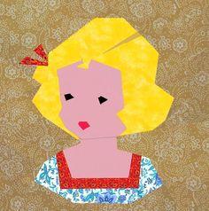 Little girl paper pieced block