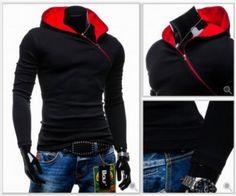 Fashion Side Zip Up Hooded Jacket