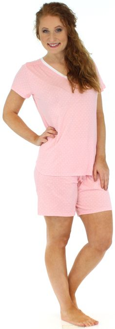 Sleepyheads Womens Sleepwear Jersey Shorts Pajama Set
