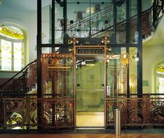 Art Deco Elevator & Staircase, Prague