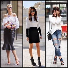 #Streetstyle. Which look is your fave? #FashiononPlay #trendy #ootd #sotd #leather #christianlouboutin #Padgram