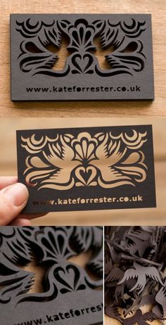 Cool Lazer Cut, especially in an Otomi looking pattern potentially.