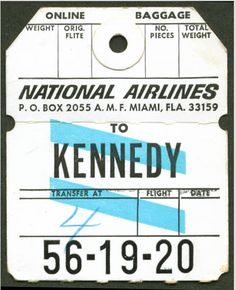 Flat Files, National Airlines, Vintage Graphic Design, Going On A Trip, Vintage Labels, Papers Co, Travel Posters, Letting Go, Typography