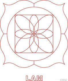 Free mandalas coloring > Other coloring designs > Muladhara chakra coloring