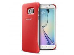 Coque Galaxy S6 Edge Protective Cover Cuir Eco Origine Samsung - Rouge Corail