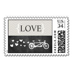 Tandem Bike Chevron Chalkboard Love Stamp http://www.zazzle.com/tandem_bike_chevron_chalkboard_love_stamp-172253573991630750?denomination=34&rf=238194283948490074&tc=pfz #love #tandem #bike #bicycle #hearts #chevron #chalkboard #white #wedding #savethedate #thankyou #vintage #cute #modern #fun #custom #customizable #silhouette #weddings #engagements #gray #black #classic #elegant #simple #whimsical #postagestamps #zazzle