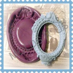 Large Victorian Cameo Setting flexible silicone mold / mould