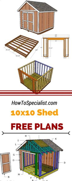 DIY Step by Step If you need more storage space in the backyard, you should check out shed plans. Learn how to build a small garden shed using my step by step plans and instructions. If you need more storage space in the backyard, you should check ou 10x10 Shed Plans, Small Shed Plans, Wood Shed Plans, Small Sheds, Shed Building Plans, Free Shed Plans, Building Ideas, Building Design, The Plan