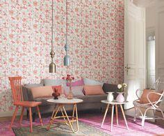 Collection BAHIA : floral, papiers-peints, nature, charme, fleurs, corail