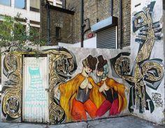 "d7606: ""Work by @vanessa_alice and @ciroschu  London UK . . #missvan #vanessaalice #vanessa_alice #ciroschu #shoreditch #eastlondon #london #shoreditchstreetart #londonstreetart #streetartlondon #londongraffiti #streetart #graffiti #art #artwork #tv_streetart #rsa_graffiti #royalsnappingartists"""