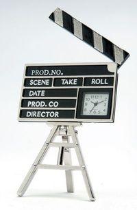 Film Makers Clapperboard Miniature Clock