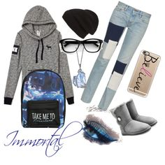 Immortal by invisible325 on Polyvore featuring polyvore, fashion, style, Simon Miller, UGG Australia, Disney, Phase 3 and Casetify