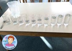 Muziek maken met water met kleuters, thema water, kleuteridee Wolf, Reggio Emilia, Lettering, School, Projects, Carnival, Music Instruments, Pistachio, Africa