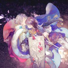 「イブ」「盾と剣」-rei子__涂鸦王国插画