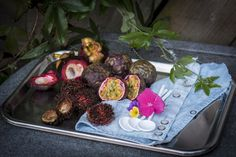 https://flic.kr/p/vpxGgd | 202/365. Serving exotic fruits in our little garden. Passion fruit and rambutan, also mangistan. We will enjoy it on this lovely day. Styling Jolanda.