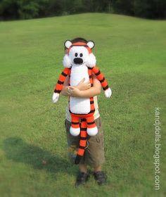 Amigurumi crochet pattern for Hobbes tiger doll