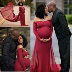 Gorgeous maternity gown for pregnancy portraits!