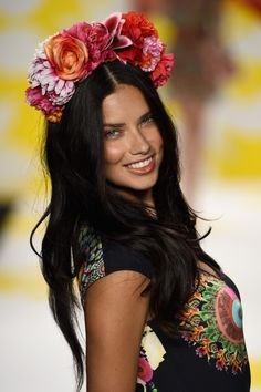 9/4/14 - Adriana Lima at the Desigual Spring 2015 Fashion Show in NYC.