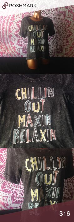 Relaxin and Maxin shirt True to shirt top Material: 100% cotton  ❌NO HOLDS ❌NO TRADES ❌NO TRY ONS ✅Prices are firm unless bundled Tops Tees - Short Sleeve