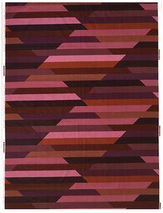 """Christa Häusler-Goltz (German, born 1943), Pyramid (""""Violet/Purple"""" colorway), 1977."""