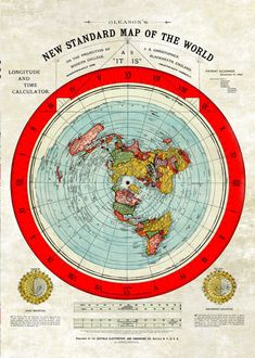 """The best looking Flat Earth Gleason Map out there. Created by Alexander Gleason in 1892 alongside his book """"is the bible from heaven?"""" Restored map that looks quality in a frame. A great conversation starter. Terre Plate, Research Flat Earth, Flat Earth Proof, Flat Earth Facts, Flat Earth Movement, Nasa Lies, Earth Poster, Pseudo Science, Flat Earth Society"""