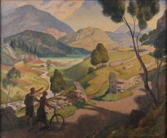 """Edward Irvine Halliday: Above Seath Waite, May 1932  Framed (ref: 7039) Signed and dated May 1932 Inscribed on reverse """"to William Knight Jr, May 1933"""" Tempera on board #modernart #landscape #art #painting"""