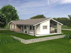 BASIC_145 Modello di case in legno antisismiche e sostenibili, costi moderati