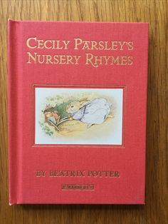 Cover of 'Cecily Parsley's Nursery Rhymes' by Beatrix Potter, published by the Folio Society. It's a gorgeous set of the 23 stories, with gold gilded pages, lovely illustrations and a blue case to keep them.