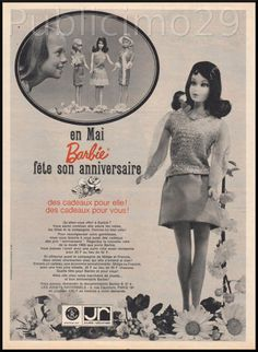 PUB Publicite Advertising Barbie Vintage 1967 Jouets Poupées | eBay