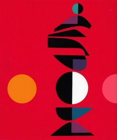 Abstract Edgard Pillet Serigraph Print, 1967.