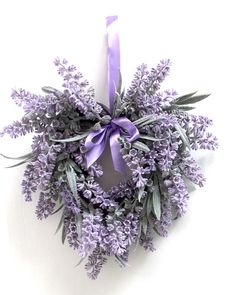Lavender small wreath, Spring wreath for front door, Spring decor, Gift for Mom, Mother's Day gift, small wreath by Leopard on Etsy Mother Day Gifts, Gifts For Mom, Small Wreath, Spring Front Door Wreaths, Heart Shapes, Christmas Wreaths, Lavender, Doors, Purple