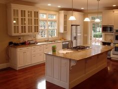 decoration fascinating kitchen with granite kitchen islands including drop in gas stove top alongside blanco 1.5 bowl undermount sink also side by side refrigerator counter depth ~ kitchen island plans