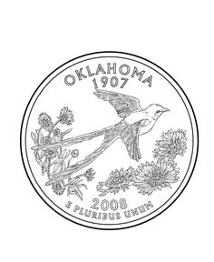 free printable state of oklahoma coloring pages showing state history demographics and points of interest oklahoma tradition and culture coloring pages