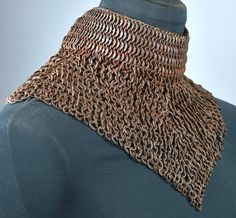 European (German) riveted mail standard, century, this is an example of high quality mail defense worn as a supplement to plate armour. Arm Armor, Body Armor, Chainmaille, Middle Ages, Middle East, Elizabethan Era, Armor Clothing, Armadura Medieval, Landsknecht