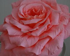 A giant paper rose = perfect for weddings! They really make a wonderful elegant statement! Paper Roses, Handmade Flowers, Etsy Seller, Weddings, Elegant, Create, Unique, How To Make, Beautiful