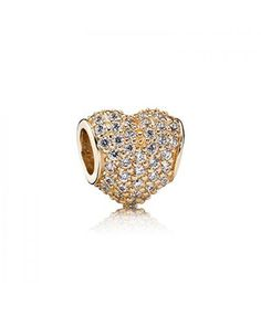 Pandora 14k Pave Heart Charm 88QC168 Very artistic atmosphere of the times, with a good effect.