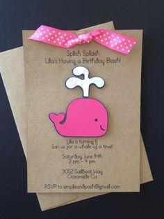 Splish Splash party invitation