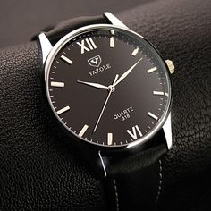 Cheap masculino, Buy Quality masculinos relogios directly from China masculino watch Suppliers: Yazole Brand Business Watch Men Wrist Watches 2017 Top Brand Luxury Male Quartz Watch Hodinky Clock Relogio Masculino Sport Watches, Cool Watches, Watches For Men, Men's Watches, Bracelet Pas Cher, Elegantes Outfit, Elegant Watches, Casual Watches, Rolex