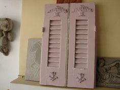 Shabby chic shutters