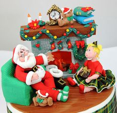 Santa Claus  Cake by viorica's cakes