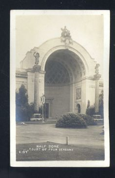 RPPC HALF DOME PANAMA PACIFIC INTERNATIONAL EXPOSITION REAL PHOTO POSTCARD in Collectibles, Postcards, Exposition