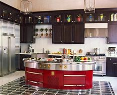 A colorful kitchen, that's for sure | From traditionalhome.com