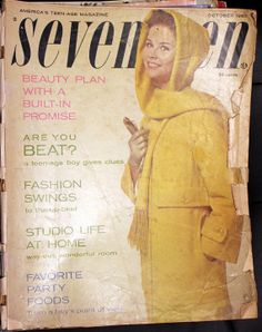 October 1960 Seventeen Magazine Back Issue by VariedTreasureFinds, $14.99